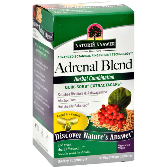 Nature's Answer - Adrenal Stress Away - 90 Veggie Caps Pack of 3