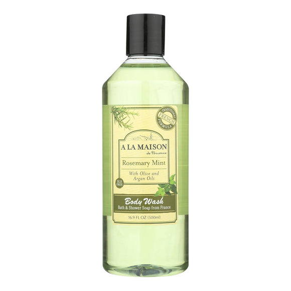 A La Maison - Body Wash - Rosemary Mint - 16.9 fl oz. Pack of 3