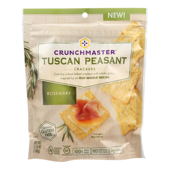 Crunchmaster Crackers - Tuscan Peasant Rosemary - Case of 12 - 3.54 oz.