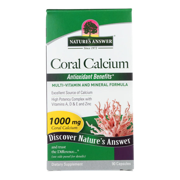 Nature's Answer - Coral Calcium Choice - 90 Capsules Pack of 3