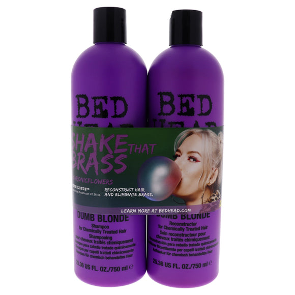 Bed Head Dumb Blonde Kit by TIGI for Unisex - 2 Pc Kit 25.36 oz Shampoo, 25.00 oz Conditioner Pack of 3