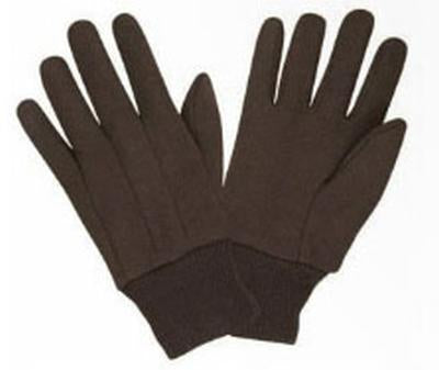 Glove Men'S Brown Jersey Lg Pack of 6