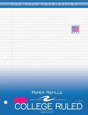 *Filler Papr 130Ct 11X8.5 Coll Pack of 24