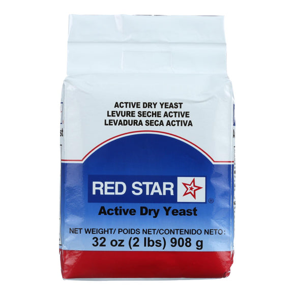 Red Star Nutritional Yeast Active Dry Yeast - 2 lb. Pack of 3