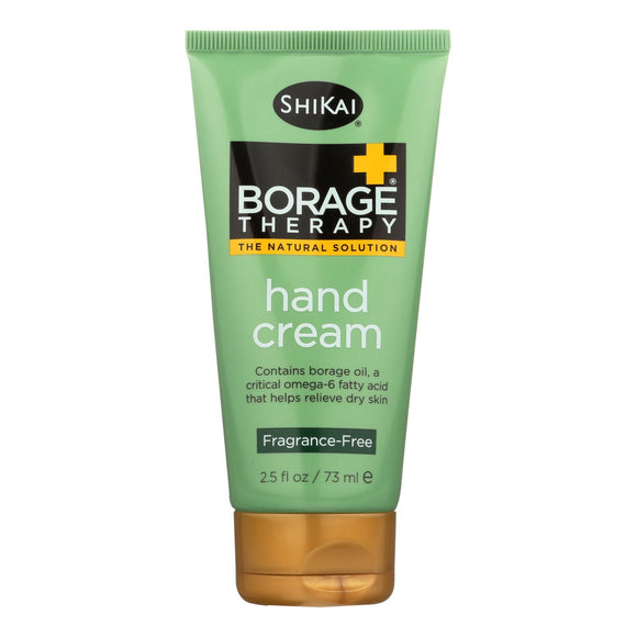 Shikai Borage Therapy Hand Cream Unscented - 2.5 fl oz Pack of 3