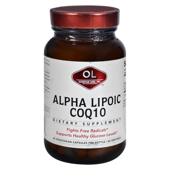 Olympian Labs Alpha Lipoic Coenzyme Q10 - 200 mg - 60 Vegetarian Capsules Pack of 3