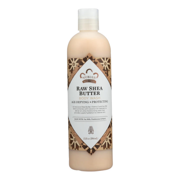 Raw Shea Butter Body Wash by Nubian Heritage for Unisex - 13 oz Body Wash Pack of 3
