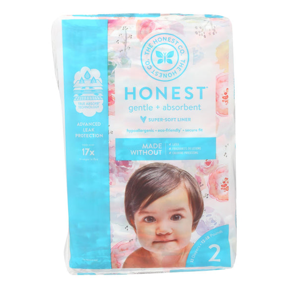 The Honest Company - Diapers Size 2 - Rose Blossom - 32 Count Pack of 3