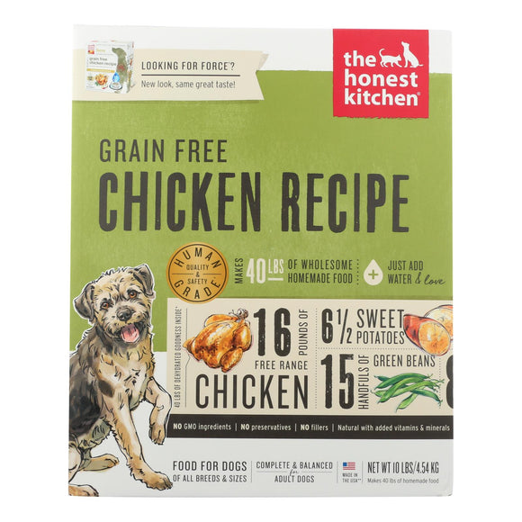 The Honest Kitchen Force - Grain Free Chicken Dog Food - 10 lb. Pack of 3