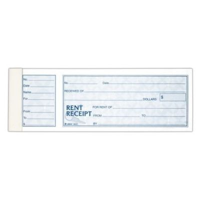 Rent Receipt Stub Pack of 5