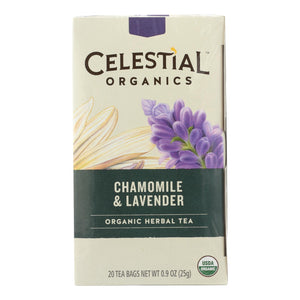 Celestial Seasonings Tea - Organic - Chamomile Lavender - Case of 6 - 20 BAG