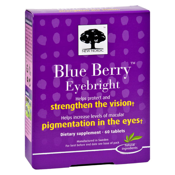 New Nordic Blue Berry Eyebright - 60 Tablets Pack of 3