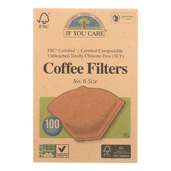 If You Care Coffee Filters - Brown - Cone - Number 6 - 100 Count Pack of 3