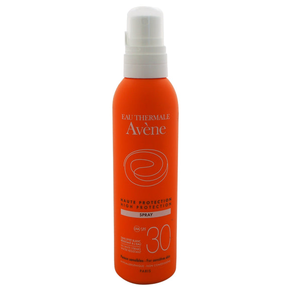 High Protection Spray SPF 30 by Eau Thermale Avene for Unisex - 6.7 oz Sunscreen Pack of 3