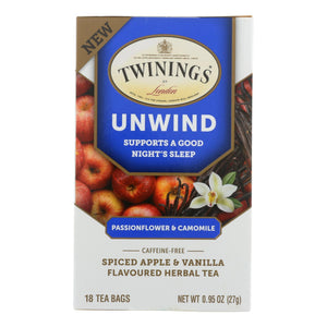 Twinings Tea - Tea Unwind Pasnflwr Camom - Case of 6 - 18 CT