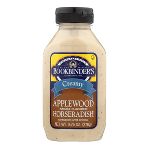 Bookbinder's - Horseradish Sauce - Creamy Applewood Smoke Flavored - Case of 9 - 9.75 oz.