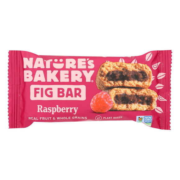 Nature's Bakery Stone Ground Whole Wheat Fig Bar - Raspberry - 2 oz - Case of 12