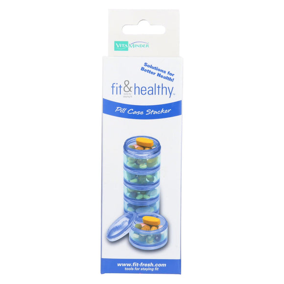 Fit and Healthy Pill Case Stacker Pack of 3