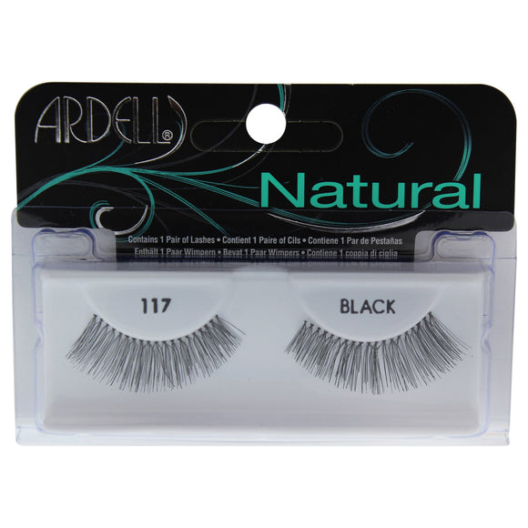 Ardell Fashion Lash #117 Blk 1 Pr Pack of 4
