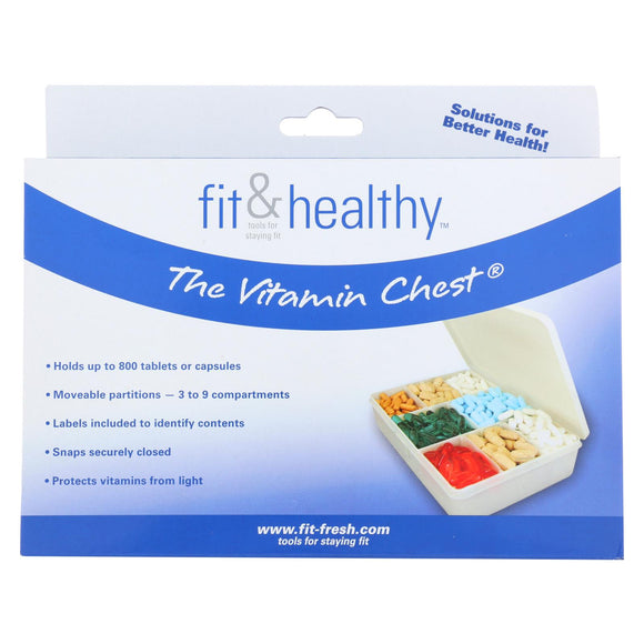 Fit and Healthy Vitamin Chest Organizer - 1 Unit Pack of 3