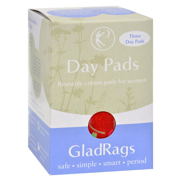 Gladrags Color Cotton Day Pad - 3 Pack Pack of 3