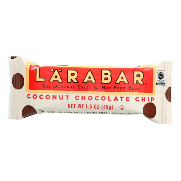 Larabar Fruit and Nut Bar - Coconut Chocolate Chip - 1.6 oz Bars - Case of 16