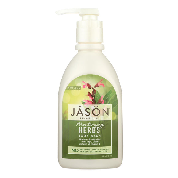 Jason Pure Natural Body Wash Moisturizing Herbs - 30 fl oz Pack of 3