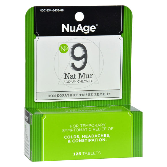 Hyland's NuAge No.9 Natrum Mur - 125 Tablets Pack of 3