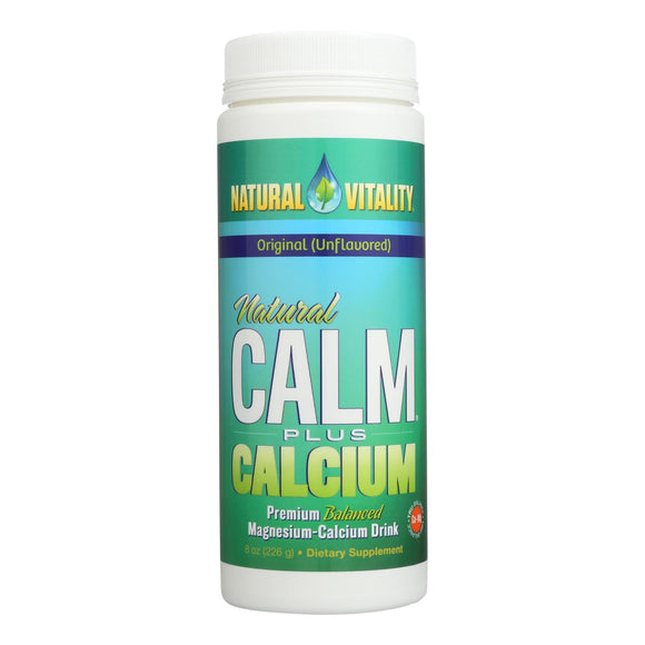 Natural Vitality Natural Magnesium Calm Plus Calcium - 8 oz Pack of 3