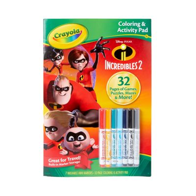 Crayola Clr & Act Incredibles Pack of 4