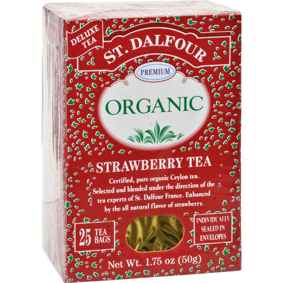 St Dalfour Organic Tea Strawberry - 25 Tea Bags Pack of 3