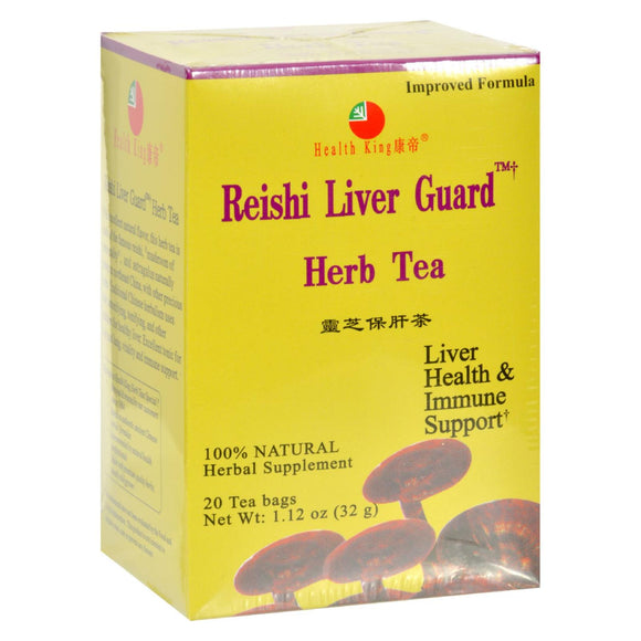 Health King Reishi Liver Guard Herb Tea - 20 Tea Bags Pack of 3