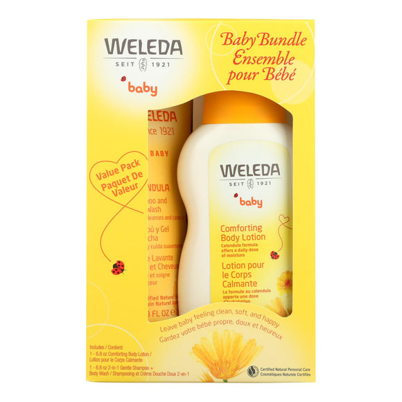 Weleda - Baby Bundle - Shampoo and Lotion - 1 Kit Pack of 3