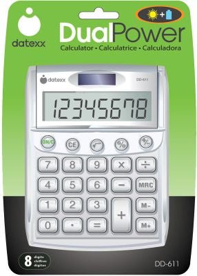 Big Number Desktop Calc White Pack of 2