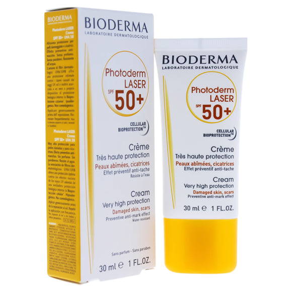 Photoderm Laser Cream SPF 50 by Bioderma for Unisex - 1 oz Sunscreen Pack of 3