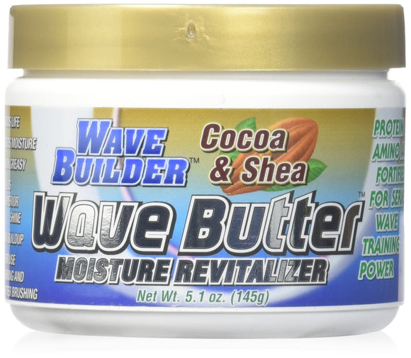 Wave Builder Cocoa & Shea Wave Butter Moisture Revitalizer 5.1 Oz Pack of 12