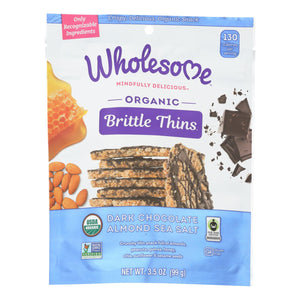 Wholesome - Brtl Thns Dark Chocolate  Almond - Case of 8 - 3.5 OZ