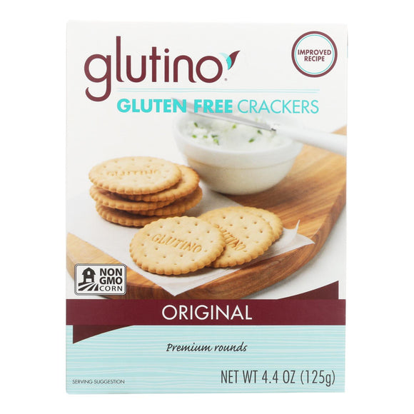 Glutino Original Crackers - Case of 6 - 4.4 oz.