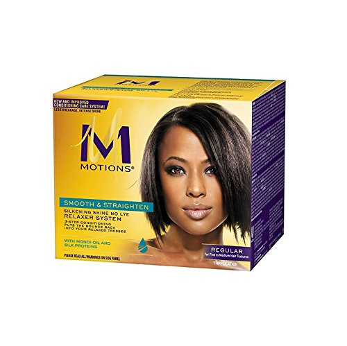 Motions Smooth & Straighten Silkening Shine No Lye Relaxer System Kit Regular          Pack of 6