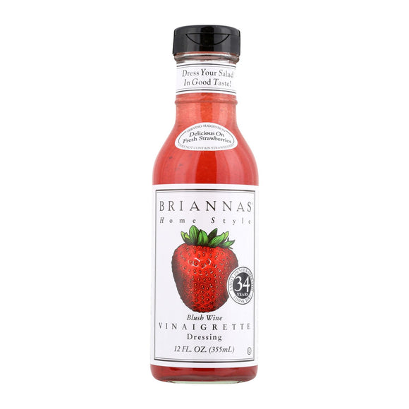 Brianna's - Salad Dressing - Blush Wine Vinaigrette - Case of 6 - 12 Fl oz.