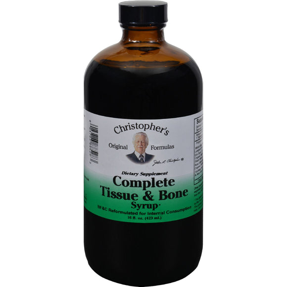 Dr. Christopher's Formulas Complete Tissue and Bone Syrup - 16 oz Pack of 3