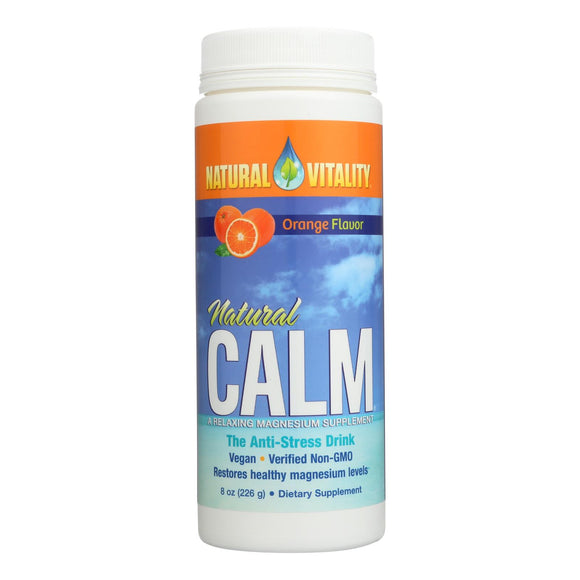 Natural Vitality Natural Magnesium Calm Orange - 8 oz Pack of 3