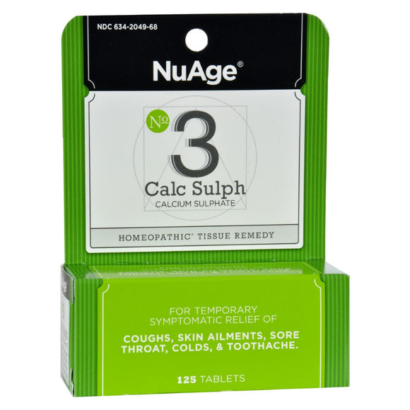 Hyland's NuAge No.3 Calc Sulph - 125 Tablets Pack of 3