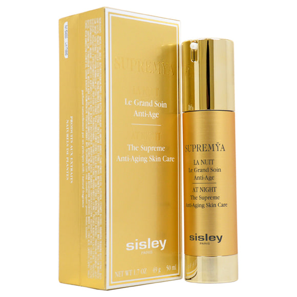 Supremya At Night The Supreme Anti-Aging Serum by Sisley for Women - 1.7 oz Serum Pack of 3