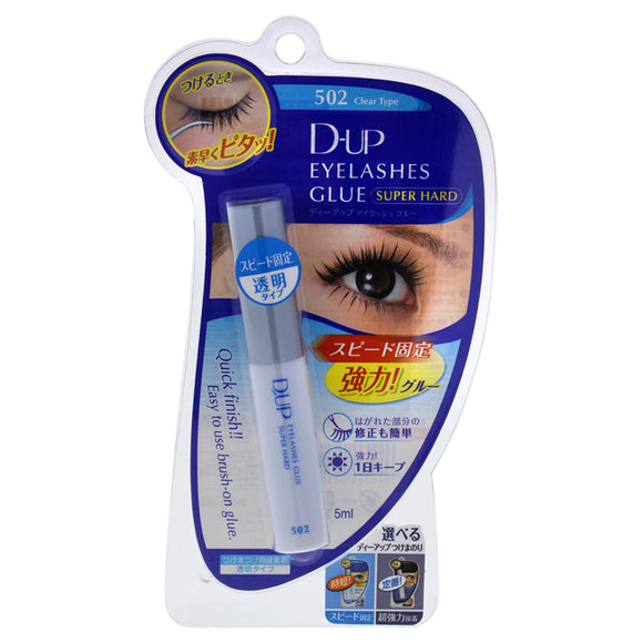Eyelashes Glue Super Hard - 502N Clear by DUP for Women - 0.17 oz Glue Pack of 3