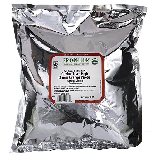 Frontier Herb 100% Organic Fair Trade Ceylon Tea - 1 lb. Pack of 3