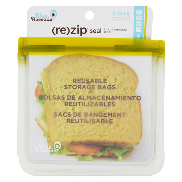 Blue Avocado - Lunch Bag - Re-Zip Seal - Green - 2 Pack Pack of 3