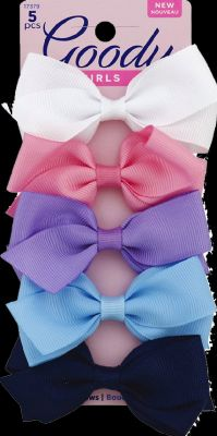 Grosgrain Bow Barr Bright 5 Ct Pack of 3