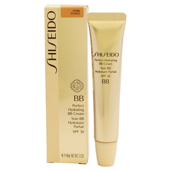 Perfect Hydrating BB Cream SPF 30 - Dark Fonce by Shiseido for Women - 1.1 oz Makeup Pack of 3