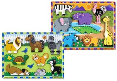 Puzzle Wood Chunky Asst 10/Dl Pack of 10